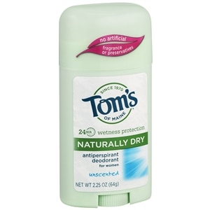 Tom's of Maine Naturally Dry Antiperspirant, Unscented- 2.25 oz