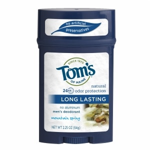 Tom's of Maine Men's Long Lasting Deodorant, Mountain Spring- 2.25 oz