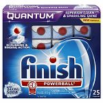 Finish Quantum Dishwasher Detergent with Baking Soda
