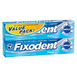 Fixodent Denture Adhesive Cream, 2 pk