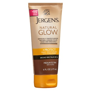 Jergens Natural Glow & Protect Daily Moisturizer SPF 20, Medium to Tan- 6 fl oz