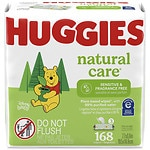 Huggies Natural Care Baby Wipes, 3 Soft Packs, Fragrance Free- 56 ct/ea