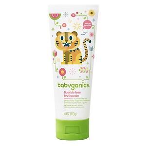 Babyganics Fluoride Free Toothpaste, Watermelon- 4 oz