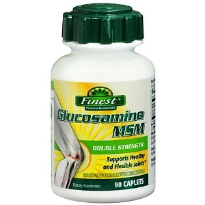 Finest Glucosamine MSM Double Strength Caplets, 90 ea