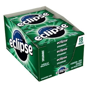 Eclipse Sugar Free Gum, Spearmint, 8 pk