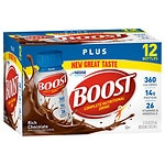 Boost Plus Complete Nutritional Drink, Rich Chocolate, 8 oz Bottles, 12 pk- 8 oz