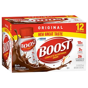 Boost Complete Nutritional Drink, Rich Chocolate, 8 oz Bottles, 12 pk