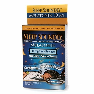 NutritionWorks Sleep Soundly Melatonin 10mg, Time Release Tablets- 60 ea