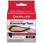 Mueller Kinesiology Tape, Continuous Roll, Black