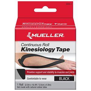 Mueller Kinesiology Tape, Black- 1 ea