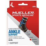 Mueller Sport Care 4-Way Stretch Ankle Support, Large/X-Large- 1 ea