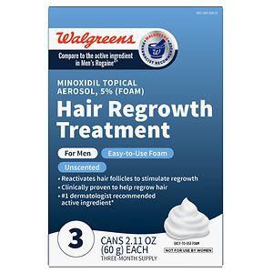 Walgreens Minoxidil Foam 5% Hair Regrowth Treatment for Men