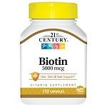21st Century Biotin 5000 mcg High-Potency Capsules- 110 ea