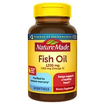 Nature Made Fish Oil 1200mg Omega-3, Softgels, Lemon