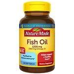 Nature Made Fish Oil 1200mg Omega-3, Softgels, Lemon- 60 ea