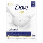 Dove Beauty Bar, White, 8 Bars- 4 oz