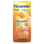 Nicorette Nicotine Gum, 4mg, Fruit Chill- 20 ea