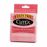 Cutex Nail Polish Remover Pads, Non-Acetone