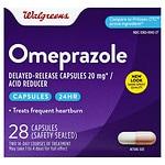 Walgreens Omeprazole Acid Reducer 20.6 Mg Capsules