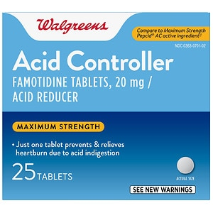 Walgreens Famotidine 20Mg Tablets