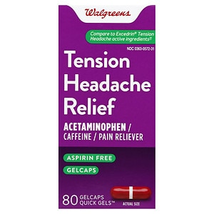 Walgreens Tension Headache Relief Gelcaps- 80 ea