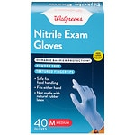 Walgreens Exam Glove Nitrile, One Size- 40 ea