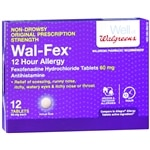 Walgreens Fexofenadine Hcl 60Mg Tablets