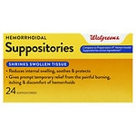 Walgreens Hemorrhoidal Suppositories- 24 ea