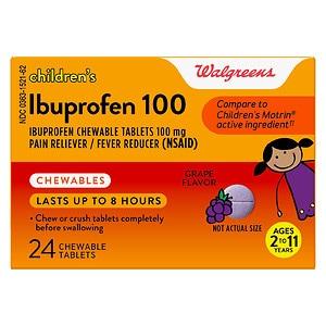Walgreens Junior Strength Ibuprophen Chewables, Grape, 24 ea