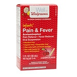 Walgreens Infants' Pain & Fever Acetaminophen Oral Suspension, 160mg, Cherry- 1 oz