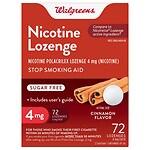 Walgreens Nicotine Lozenge, 4 mg, Cinnamon- 72 ea