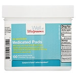 Walgreens Pre-Moistened Medicated Pads- 100 ea