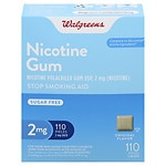 Walgreens Nicotine Gum, 2 mg, Original