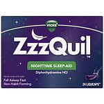 ZzzQuil Nighttime Sleep-Aid LiquiCaps- 24 ea