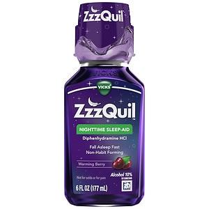 ZzzQuil Nighttime Sleep-Aid Liquid- 6 fl oz