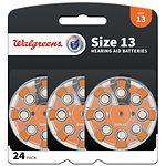 Walgreens Hearing Aid Batteries, Zero Mercury, #13- 24 ea