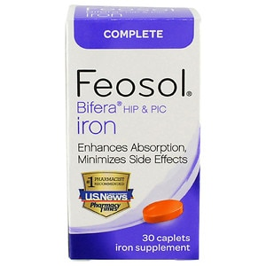 Feosol Bifera HIP & PIC Iron, Complete, Capsules