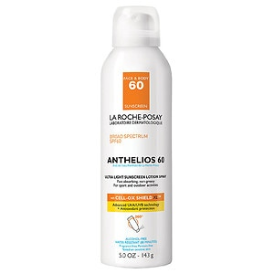 La Roche-Posay Anthelios Ultra Light Sunscreen Lotion Spray, SPF 60