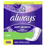 Always Dailies Xtra Protection Long Liners, Unscented