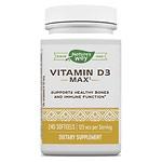 Nature's Way Vitamin D3 5,000 IU, Softgels- 240 ea