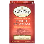 Twinings English Breakfast Tea- 20 ea