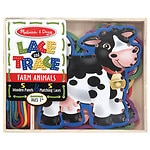 Melissa and Doug Farm Animals Lace and Trace Panels Ages 3+- 1 ea