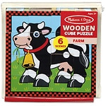 Melissa and Doug Farm Cube Puzzle Ages 3+- 1 ea