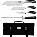 Top Chef 5 Piece Stainless Steel Knife Set - Portable- 1 ea