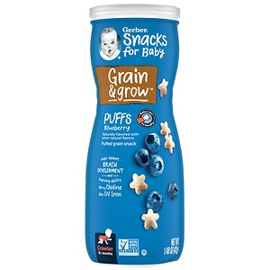 Gerber Graduates Puffs Cereal Snack, Blueberry, 1.48 oz
