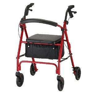 Nova Vibe Rolling Walker with 6 inch Wheels 4236RD, Red- 1 ea