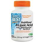 Doctor's Best Best Stabilized R-Lipoic Acid, 200mg, Veggie Caps