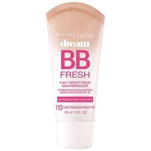 Maybelline Dream Fresh BB 8-in-1 Beauty Balm Skin Perfector SPF 30, Light/Medium