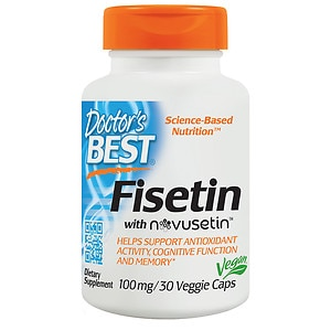 Doctor's Best Fisetin Featuring Novusetin, 100mg, Veggie Caps- 30 ea