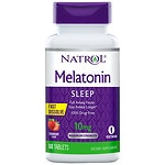 Natrol Melatonin 10 mg, Fast Dissolve Tabs, Strawberry- 60 ea